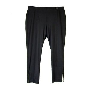 Chico's Black Light Stretch Rayon Ankle Pants 16